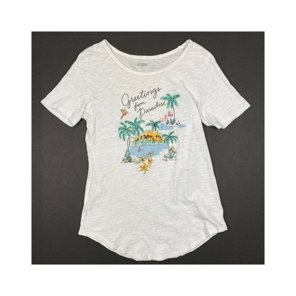"Old Navy Tops - Old Navy ""Greetings from Paradise"" Tshirt"
